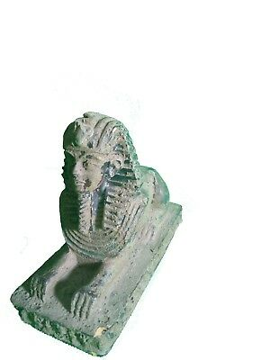 RARE ANTIQUE EGYPTIAN STATUE Pharaoh Sphinx Pyramid 1400 Bc