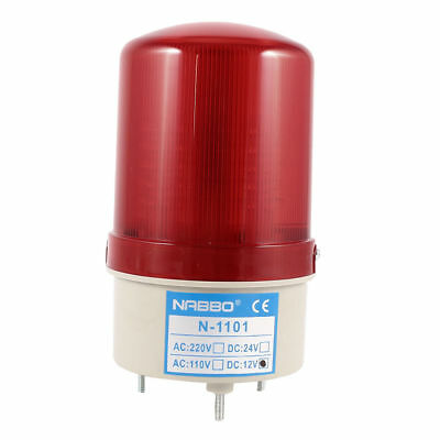 Industrial  Blinking Rotating Warning Light Bulb Signal Tower Lamp Red LED DC 12
