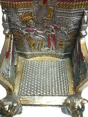RARE ANTIQUE EGYPTIAN PHARAOH King Tutankhamun Tutankhamen Throne 1333 Bc