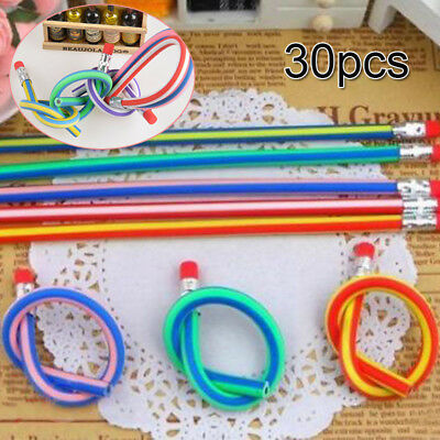 30X Soft Flexible Bendy Pencils Magic Bend Kids Children School Novelty Gift HOT