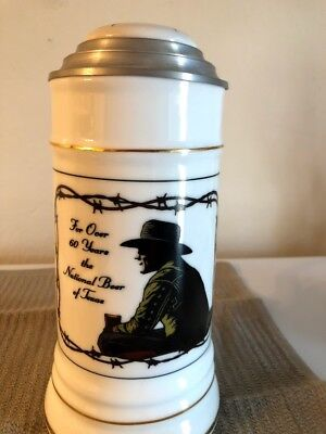 Lone Star light German 81/2 inches lidded stein individually number #0018
