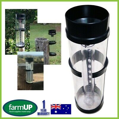 RAIN GAUGE PRO UV Stabilised 250mm 10 inch - Farming Garden Water Weather New AU