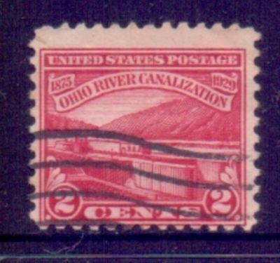 United States  1929  Ohio River Canal, used.