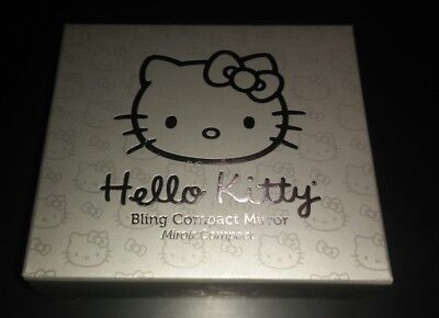 Hello Kitty Bling Compact Mirror New In Box As Pictured