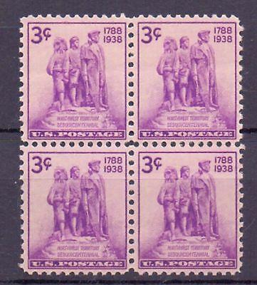 United States  1938  Colonization of the West x 4, MNH.