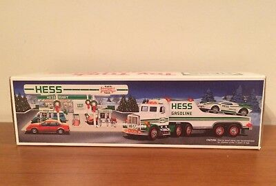 """1991 HESS TRUCK """"TOY TRUCK and RACER"""" """"FORMULA ONE STYLE RACE CAR"""" NEW IN BOX"""