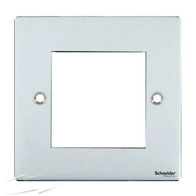 AS-PV-50X25Polished Chrome Plate Cut 50x25 with Grid 1 Gang