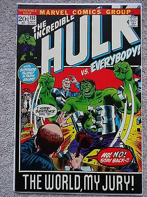 THE INCREDIBLE HULK No. 153 July 1972
