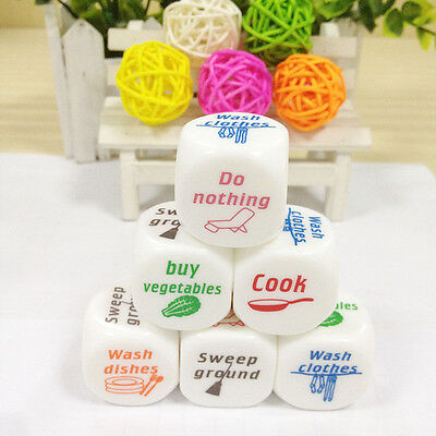 1x Dice Game Toy For Adult Love Couple Housework Duties Sex Fun Novelty Gift YT