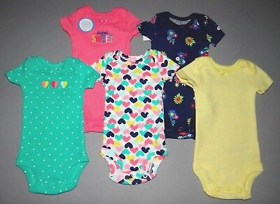 Baby girl clothes, Preemie, Carter's Little Baby Basics Colorful 5 piece set