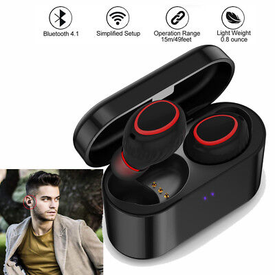 Noise Cancelling Wireless TWS Bluetooth Headset Stereo Earbud for Samsung iPhone