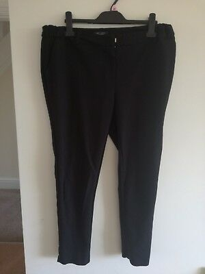Black maternity work trousers size 12