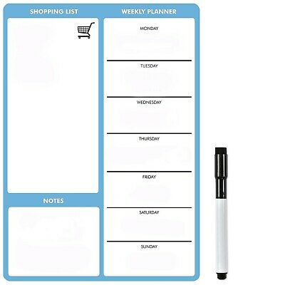 A4 Blue Magnetic Weekly Meal Planner by The Magnet Shop®