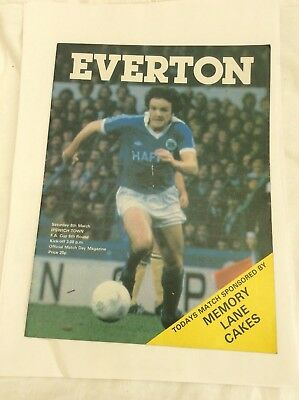Everton v Ipswich Town   F.A cup 6th round March 1980