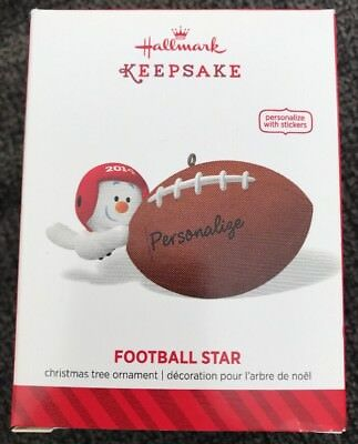 "2014 ""Football Star"" NIB  Hallmark Keepsake Christmas ornament"