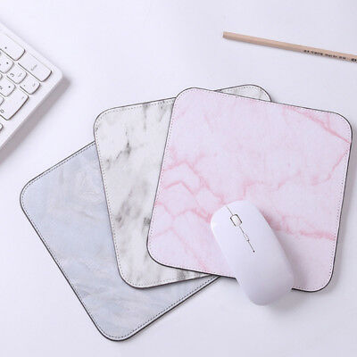 White Grey Classic Marble Effect Pattern Stone PC Computer Mouse Mat Pad aj