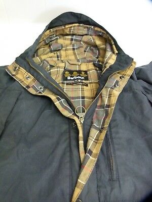 Barbour Steve Mcqueen Millom Wax Hood Mens Jacket Blue Brown Tartan Lined Beacon