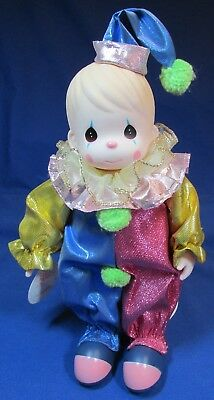 """Precious Moments – 12"""" Happy the Clown Doll – Excellent Cond – Still Has Tags"""