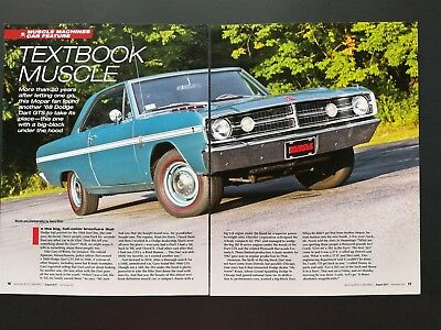 1968 Dodge Dart GTS 383 - Original 6 Page Color Article - Free Shipping