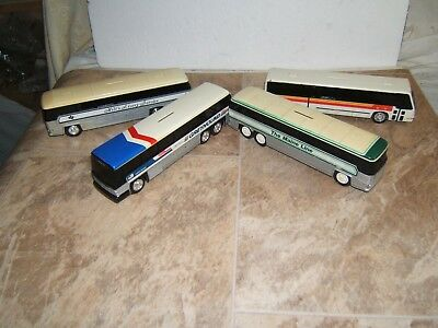 Lot of 4 Jimson & Other Maine Line Greyhound RTA Milt's Livery Bus Banks Bank #4