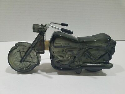Vintage Avon Full Motorcycle glass-bottle