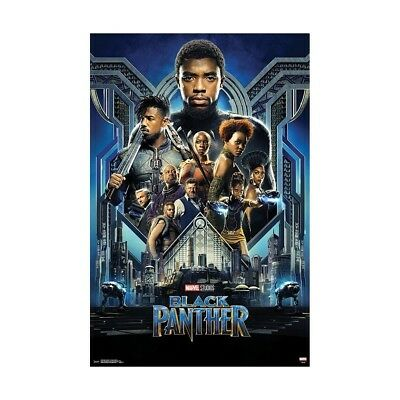 "Black Panther Poster Movie Marvel MCU 23 x 35"" T'Challa Chadwick Boseman Gift"