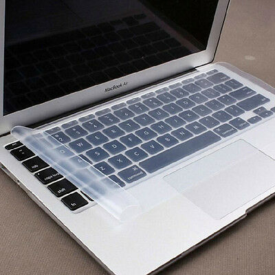 "Ultra Thin Transparent Silicone Rubber Keyboard Skin Film Cover For 15"" Laptop"