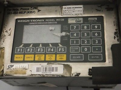Avery Weigh Tronix Forklift Scale Indicator WI-130 (USED)