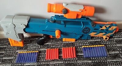 Nerf zombie strike Longshot CS-6 sniper rifle gun with Scope 2 mags darts 18.99p