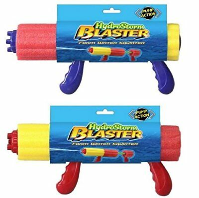 2 x Pump Action Hydrostorm Blaster Foam Water Squirter Toy Gun Garden Fun