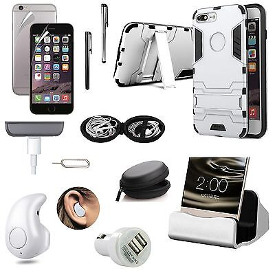 11 x Case Cover Charger Bluetooth Headset Accessory Bundle Kit For iPhone 8 Plus