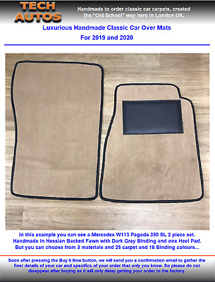 MG TD and TF Handmade to Order Tufted Deep Pile Over Mat Set