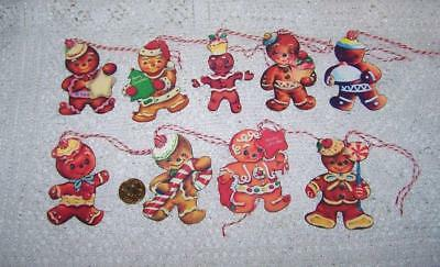 Christmas~Retro~Gingerbread~Glitter~Meticulous Cut~Linen Cardstock~Gift~Hang~Tag