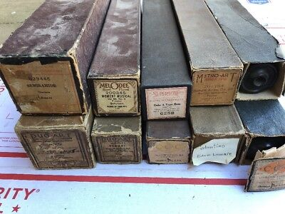 LOT OF 10 Player Piano Rolls Antique BID HIGH! :)