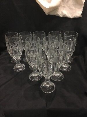 Crystal Wine Water Goblets Trevi Pattern Home Essentials Beautiful (12)