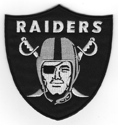 "🔥3.75"" OAKLAND RAIDERS Football Team Iron-on Logo Jersey PATCH - Raider Nation!"