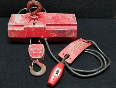 Dayton - Model 2Z668 500 LB Pound Capacity Electric Wire Rope Cable Mini Hoist
