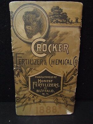 VTG. 1888 Crocker Fertilizer & Chemical co. Advertising Booklet~Buffalo NY~RARE!