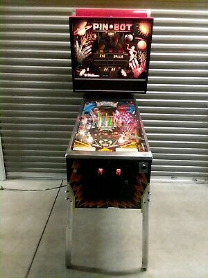 *WORKING* PIN-BOT pinball machine (Vintage cica 1986)