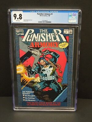 Marvel Punisher Armory #1 1990 Cgc 9.8 White Pages Jim Lee Cover Newsstand Upc
