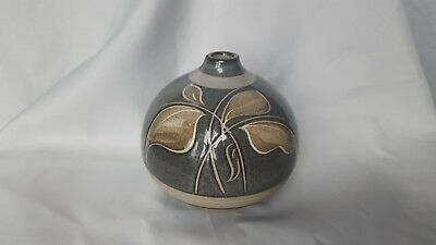 "1970's DENBY Bulbous Vase 4 1/2"" tall In V.G.C. Free UK Postage"