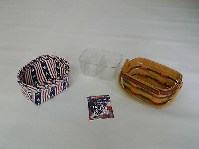 Longaberger 1997 Red White and Blue Patriot Basket w/ Protector Liner (10651)