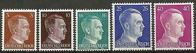 Germany (Third Reich) 1942 MNH - Selection of 5 Hitler Definitives (Lot 3)