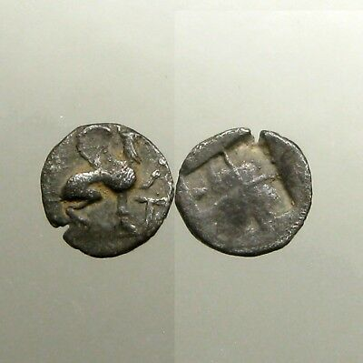 TEOS IONIA SILVER HEMIOBOL___Battled the Persians___GRIFFIN WITH RAISED PAW