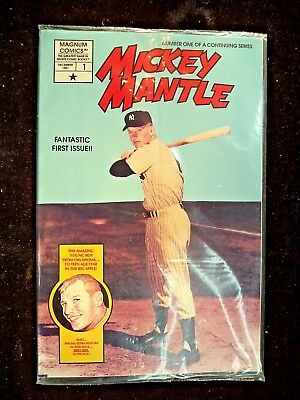 1991 Mickey Mantle, Magnum Comics First Issue, Un-Opened Sealed