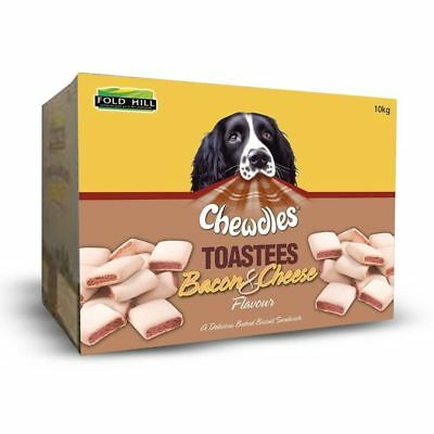 Chewdles Toastees Bacon Cheese Dog Biscuits Treats Training Natural Puppy Adult