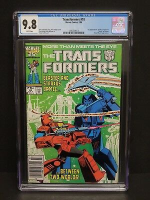 Marvel Comics Transformers #18 1986 Cgc 9.8 Wp Robot-Master Newsstand Upc