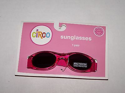 Nwt Infant Circo Sunglass Pink Impact Resistant Uv400 Protection Adjustable Band