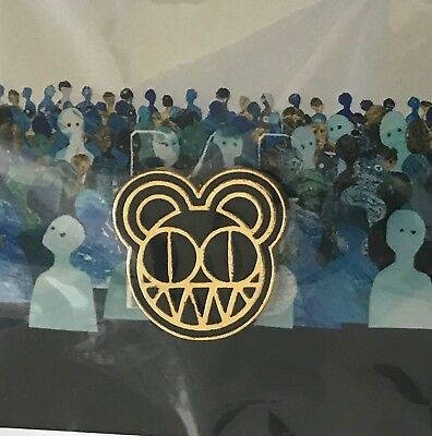 Radiohead pin 2018 tour modified bear gold lapel pin