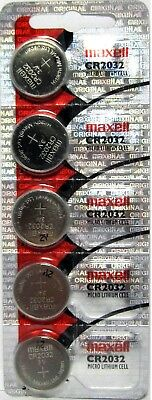 5 Maxell Hologram CR2032 3V Lithium Coin Cell Batteries- USA Seller